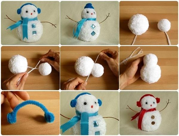 ساخت آدم برفی