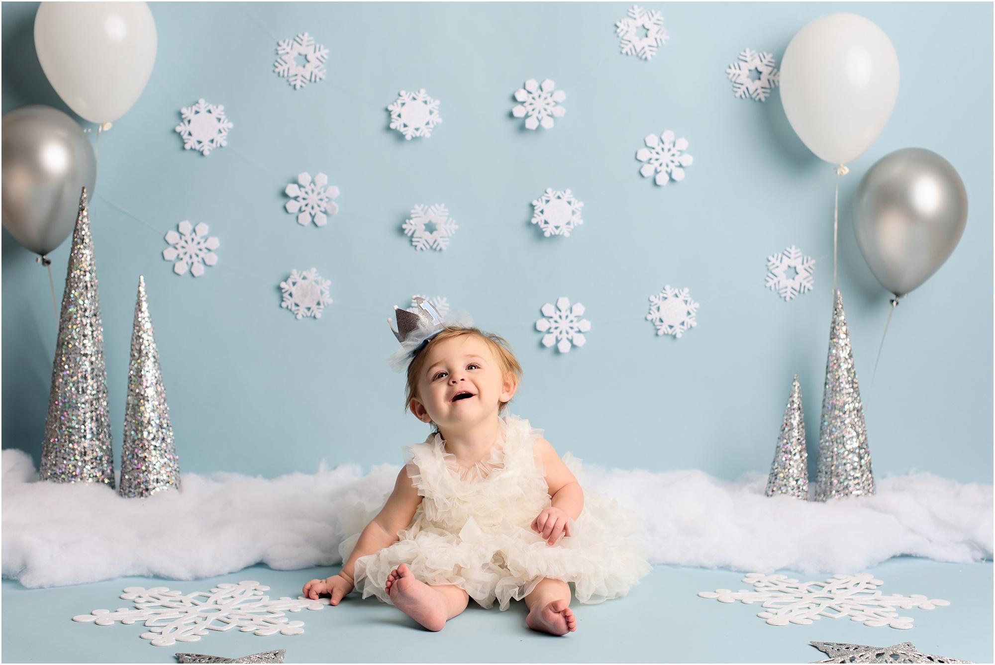 تم زمستانی برای عکاسی از کودک